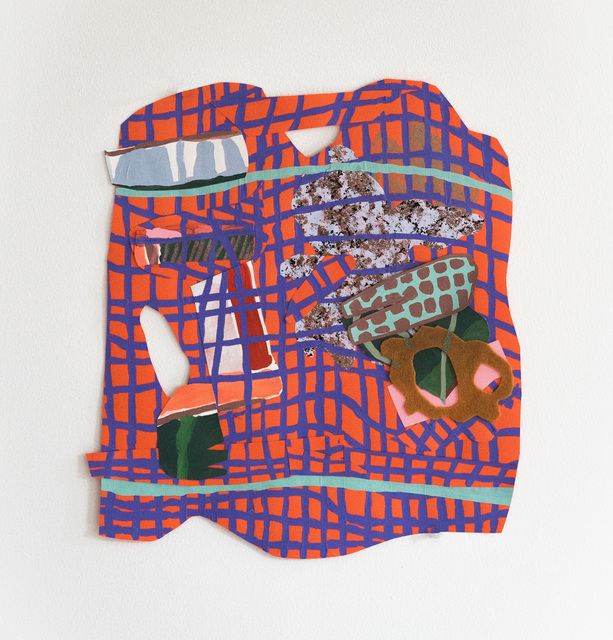 , 'DISHRAG, gouache, acrylic paint, oil pastel, collage on paper -the work is framed,' 2018, ROCKELMANN  & PARTNER
