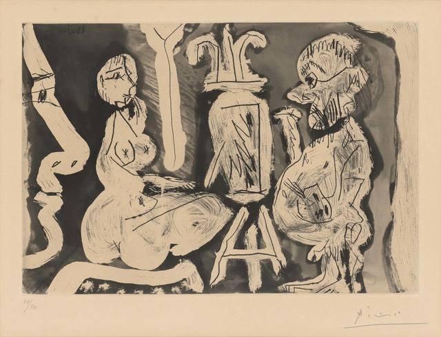 Pablo Picasso, 'PEINTRE ET SON MODÈLE (B. 1209)', 1965, Doyle