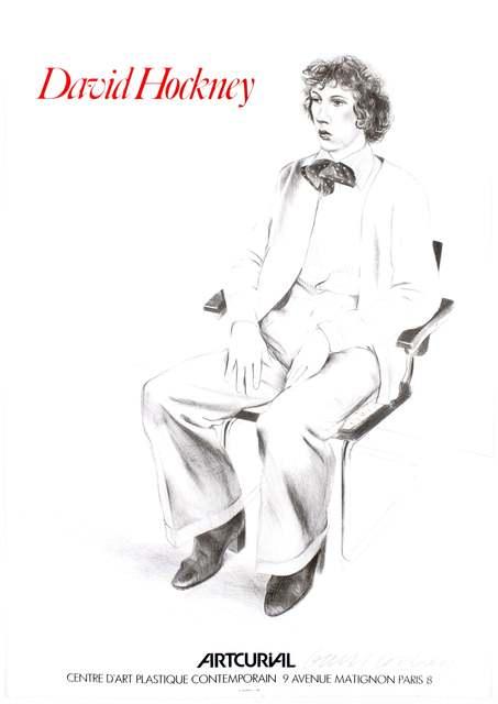David Hockney, 'Vintage SIGNED poster Artcurial, Paris 1979 (Gregory Evans, 1976)', 1979, Petersburg Press