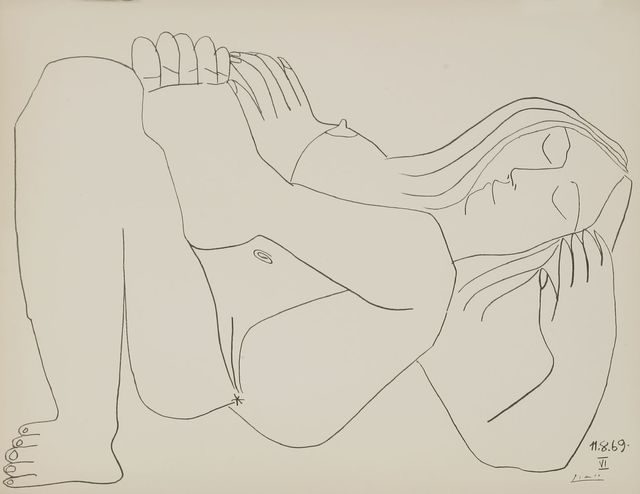 Pablo Picasso, 'Femme Nue I and VI', 1969, Print, Two lithographs, Sworders