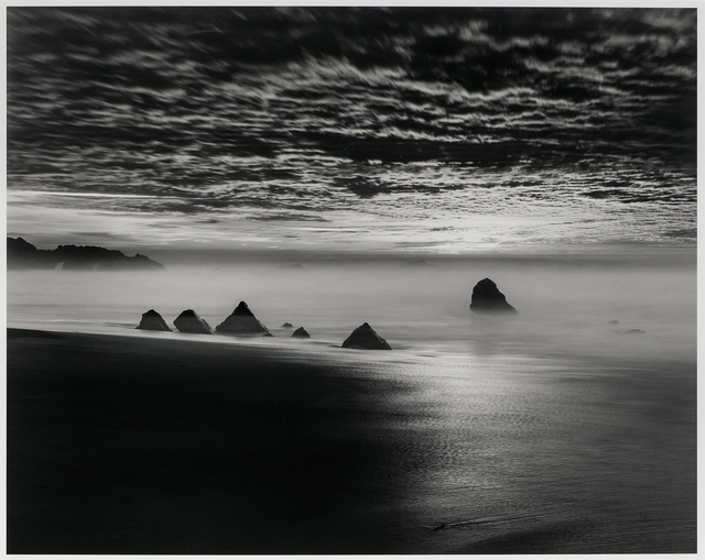 Chip Hooper, 'Triangle Rocks, Garrapata Beach', 1998, Photography, Gelatin silver print mounted to board, Skinner
