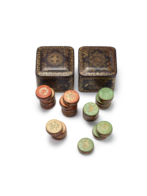, 'AN IMPERIAL SET OF IVORY 'XIANGQI' PIECES WITH PAINTED LACQUER COVERED BOXES,' , Maria Kiang Chinese Art