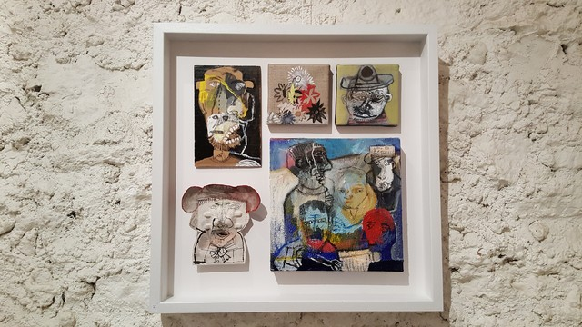 Sergio Moscona, 'Spring faces III', 2017, Painting, Painting object with acrylic painting on canvas, Galerie Claire Corcia