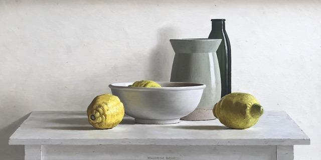 , '3 lemons, bottle, vase and bowl,' 2018, Smelik & Stokking Galleries