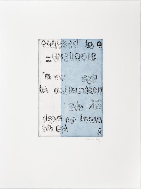 Elize de Beer, 'Visual- Perceptual', 2019, David Krut Projects