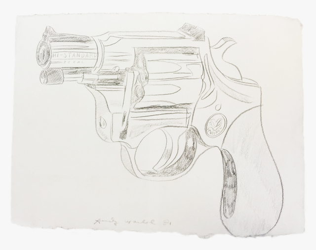Andy Warhol, 'Gun', 1981, Drawing, Collage or other Work on Paper, Pencil on papel, Mirat
