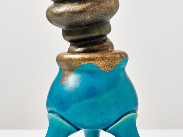 Michael Geertsen, 'Turquoise Pot with Smoke,' 2013, Jason Jacques Inc.