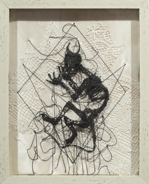 Caitlin McCormack, 'Devil III', 2017, Textile Arts, Crocheted cotton string, glue, steel pins, vintage fabric, Paradigm Gallery + Studio