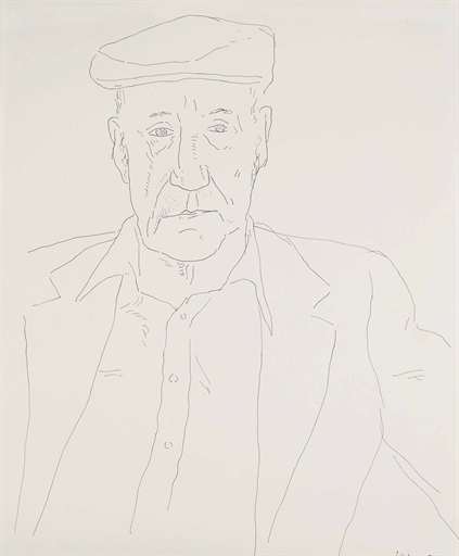David Hockney, 'William Burroughs', Christie's