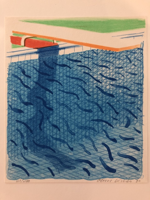 David Hockney, 'Pool Made with Paper and Blue Ink for Book of Paper Pools.', 1980, Mr & Mrs Clark's