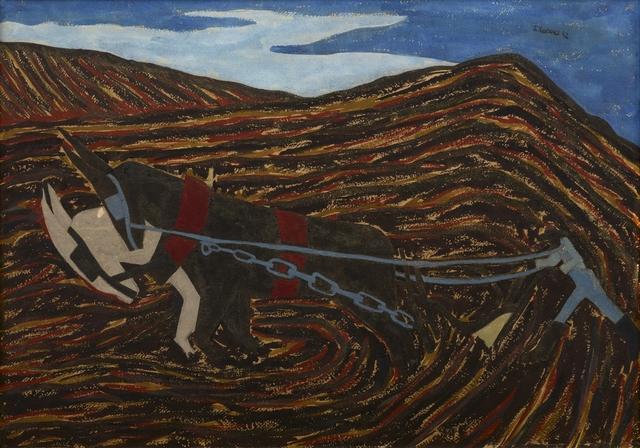 , 'The Plowman (Spring Plowing),' 1942, Debra Force Fine Art