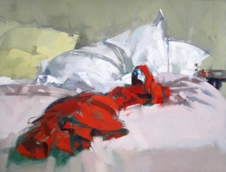 Maggie Siner, 'Red Dress on Bed', 2017, J. Cacciola Gallery