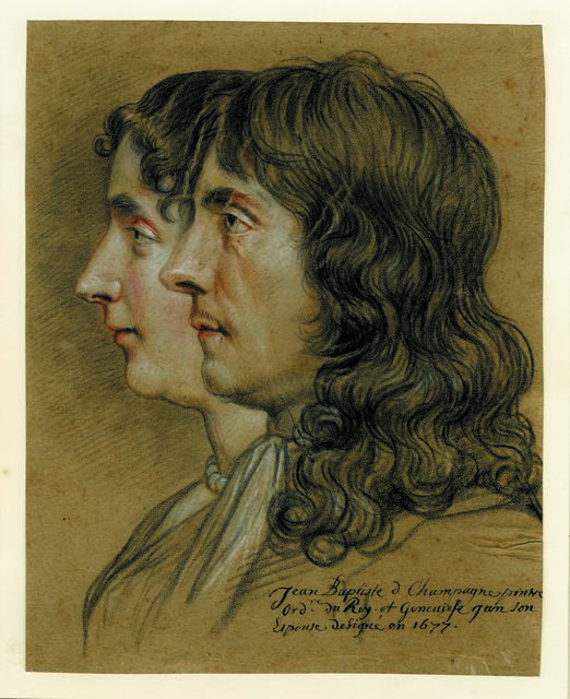 , 'Portrait of Jean-Baptiste de Champaigne and his wife Geneviève ,' 1677, British Museum