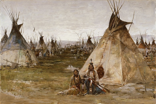 , 'Arapahoe Camp,' not dated, Blanton Museum of Art
