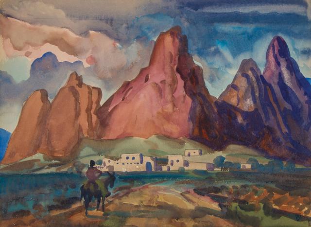 , 'Sun Drenched Pueblo,' ca. 1950, WOLFS