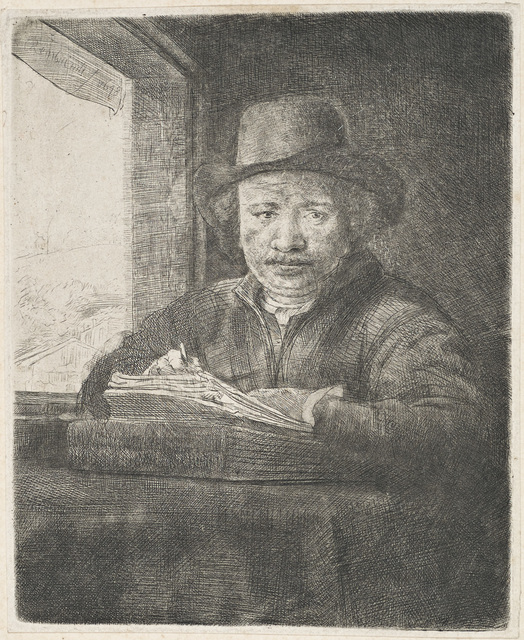 , 'Self-Portrait Drawing at a Window,' 1648, Galerie d'Orsay