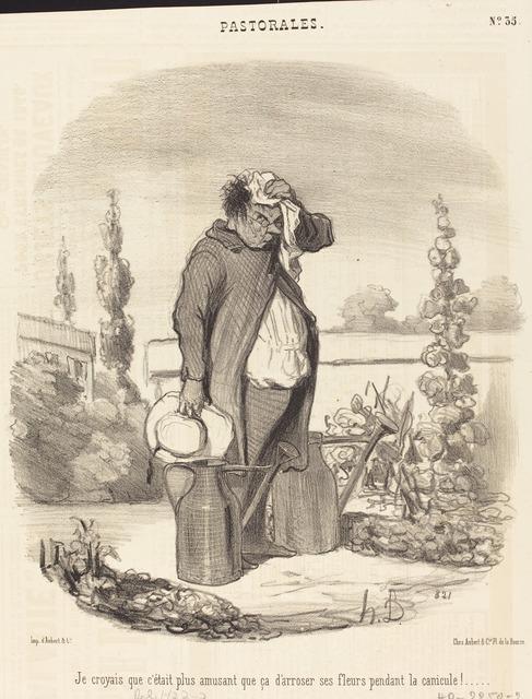 Honoré Daumier, 'Je croyais que c'était plus amusant que ça...', 1845, National Gallery of Art, Washington, D.C.