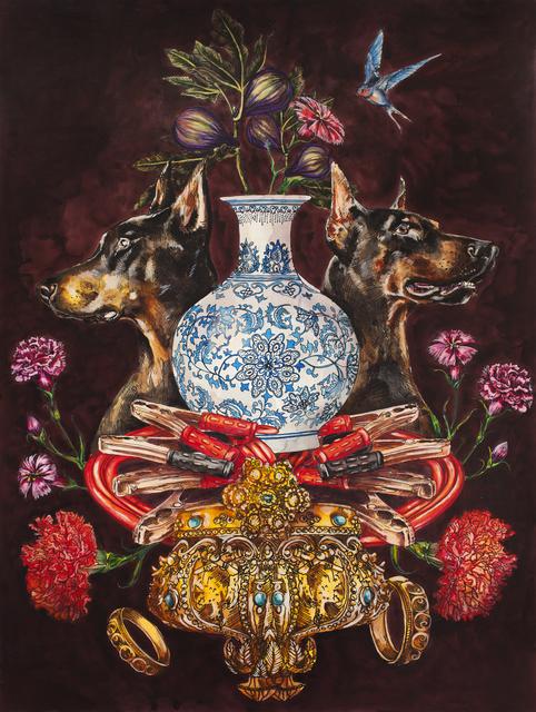 , 'Fur, Copper and Gold,' 2018, Galerie D'Este