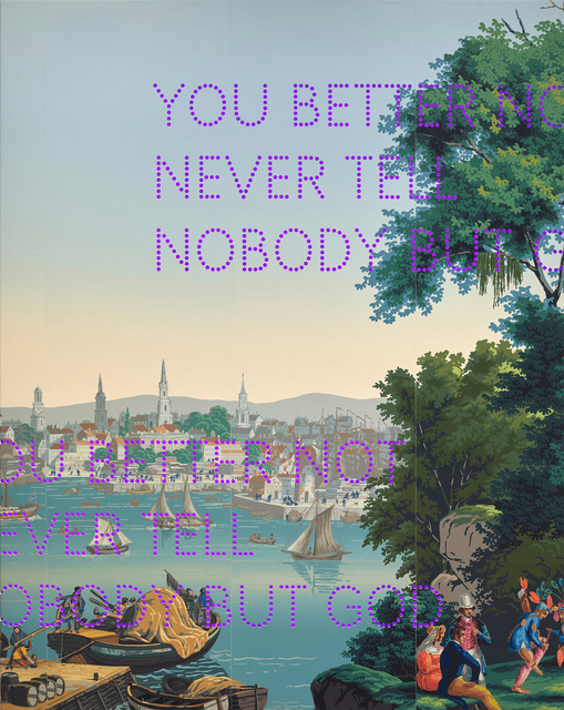 , 'You Better Not,' 2019, Parafin