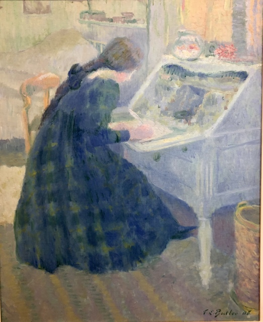 , 'Writing A Letter,' 1908, Eckert Fine Art