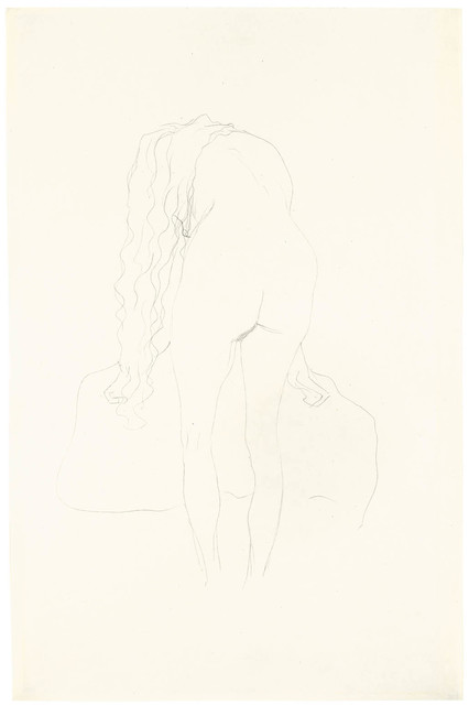 , 'Nude from the Back Leaning Forward,' ca. 1907, Galerie Bei Der Albertina Zetter
