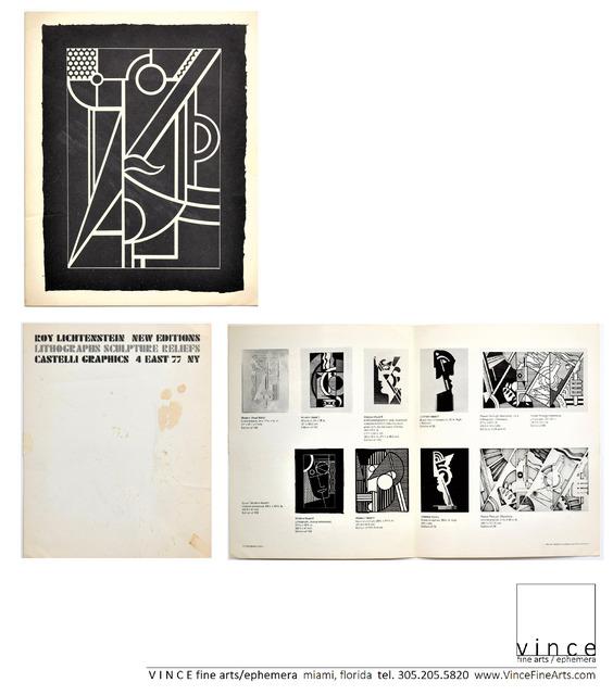 """Roy Lichtenstein, '""""New Editions, Lithographs, Sculpture Reliefs"""", 1970, Invitation/Mailer, Leo Castelli Gallery NYC', 1970, VINCE fine arts/ephemera"""