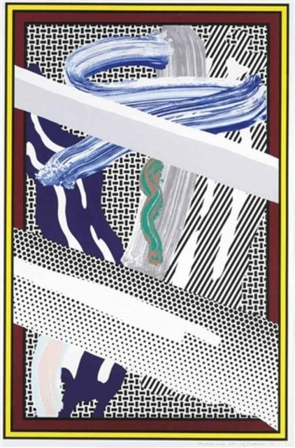 Roy Lichtenstein, 'Reflections on Expressionist Painting (from The Carnegie Hall 100th Anniversary Portfolio), 1990', 1990, Lougher Contemporary