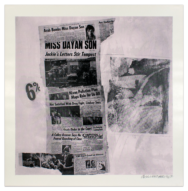 Robert Rauschenberg, 'Features from Currents #76', 1970, Krakow Witkin Gallery