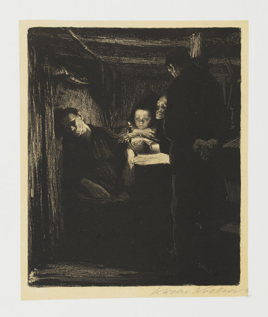 Käthe Kollwitz, 'Death', 1893-1897, Print, Lithograph on yellow chine collé, mounted on off-white wove paper., Galerie St. Etienne