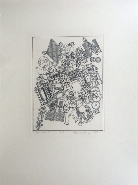 Eduardo Paolozzi, 'RARE Lithograph with personal dedication to Frank Martin, legendary head of sculpture department at St. Martin's School of Art', 1980, Alpha 137 Gallery
