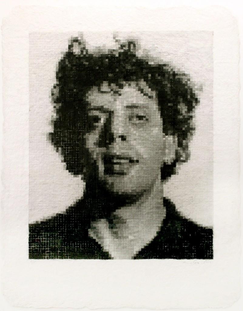 Chuck Close, 'Phil I (White),' 1982, Berggruen Gallery