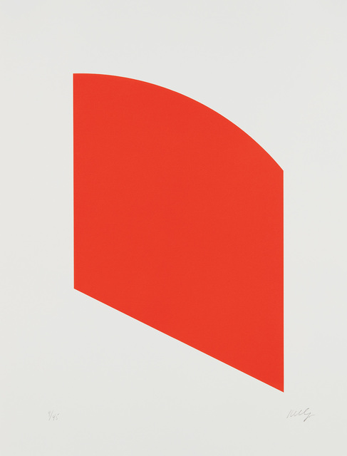 Ellsworth Kelly, 'Red, from Fourth Curve Series', 2003, Phillips