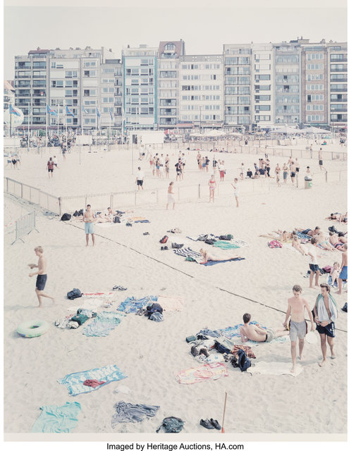 Massimo Vitali, 'Untitled, from Knokke Beach Polyptych, from A Portfolio of Landscapes with Figures (two works)', 2002, Heritage Auctions