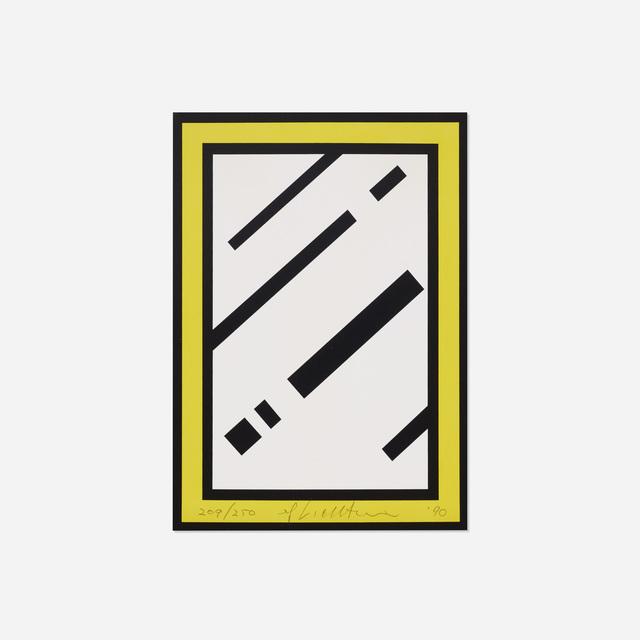 Roy Lichtenstein, 'Mirror (from the Harvey Gantt Portfolio)', 1990, Print, Screenprint on paper artist board, Rago/Wright