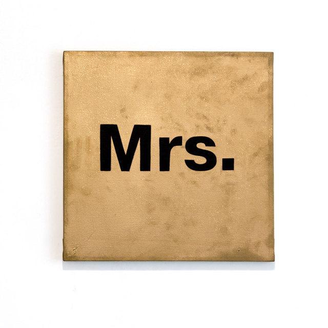 , 'Mrs.,' 2016, El Apartamento