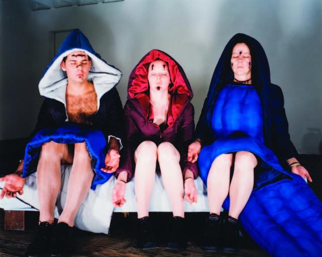 "Olaf Breuning, '""() I"" (Augen zu)', 1998, Galerie Andrea Caratsch"