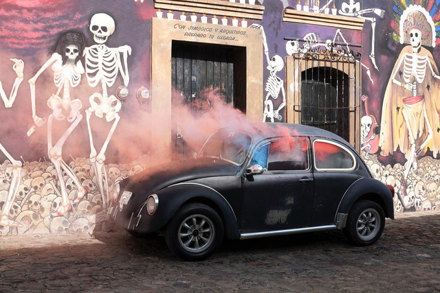 Isabelle & Alexis, 'Oaxaca Ciudad - A Beetle car celebrating death in Mexico', 2012, B Lounge Art