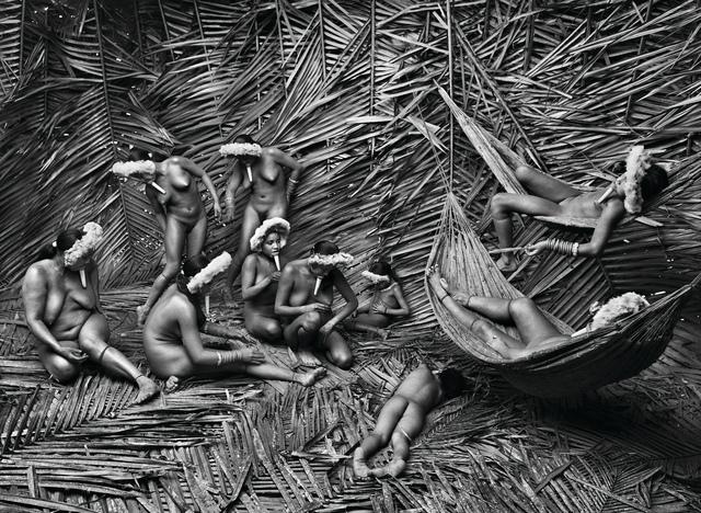 Sebastião Salgado, 'Women in the Zo'é village of Towari Ypy color their bodies with the red fruit of the urucum. Pará, Brazil', 2009, Photography, Gelatin silver print, Sundaram Tagore Gallery