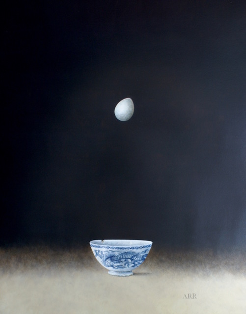 , 'Blue Dragon Bowl with Falling Egg,' 2018, Quantum Contemporary Art