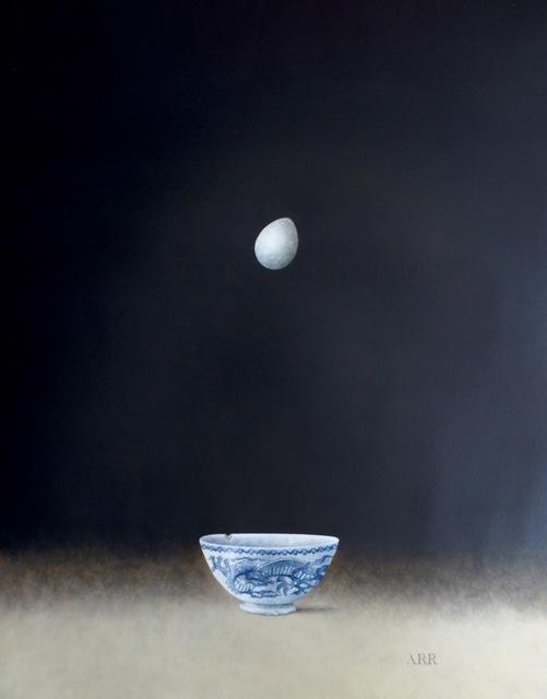 Alison Rankin, 'Blue Dragon Bowl with Falling Egg', 2018, Quantum Contemporary Art