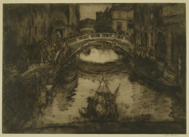 Clifford Isaac Addams, 'A Venetian Waterway', ca. 1920, Private Collection, NY