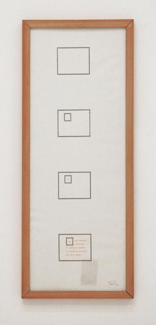 , 'È una vecchia incisione,' 1982, Tiziana Di Caro