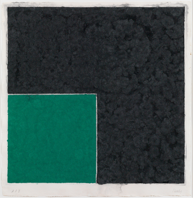 , 'Colored Paper Image XVIII (Green Square with Dark Gray),' 1976, Susan Sheehan Gallery
