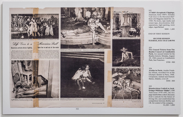 , 'Auction Pages (A Child's Scrapbook),' 2013, Rosamund Felsen Gallery