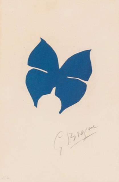 Georges Braque, 'Le Papillon ', 1957, Print, Lithography, Dawson Cole Fine Art
