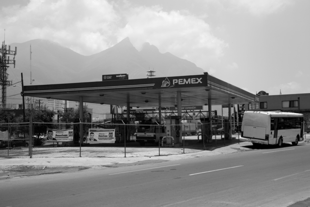 , '26 Used to be Gasoline Stations (Félix U Gomez, Monterrey NL),' 2007-2015, Machete