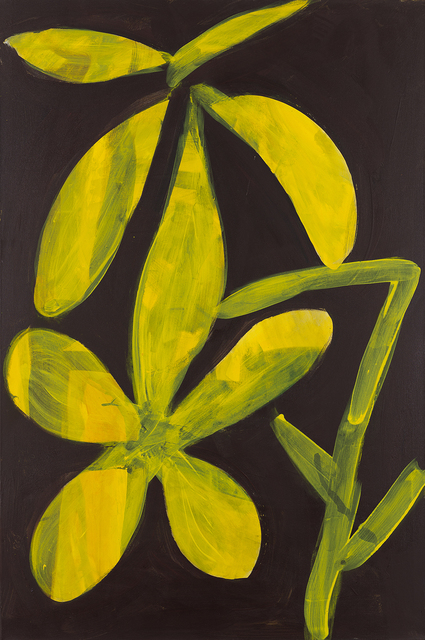 Tamuna Sirbiladze, 'flower 7, yellow', 2015, Painting, Oil on canvas, Charim Galerie