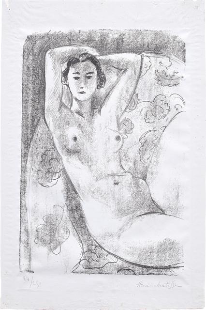 Henri Matisse, 'Nu assis dans un fauteuil au décor fleuri (Nude Sitting in a Floral Decorated Armchair)', 1924, Phillips