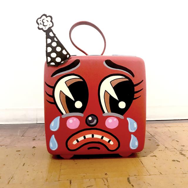 , 'Sad Red Suitcase,' 2018, La Luz de Jesus Gallery