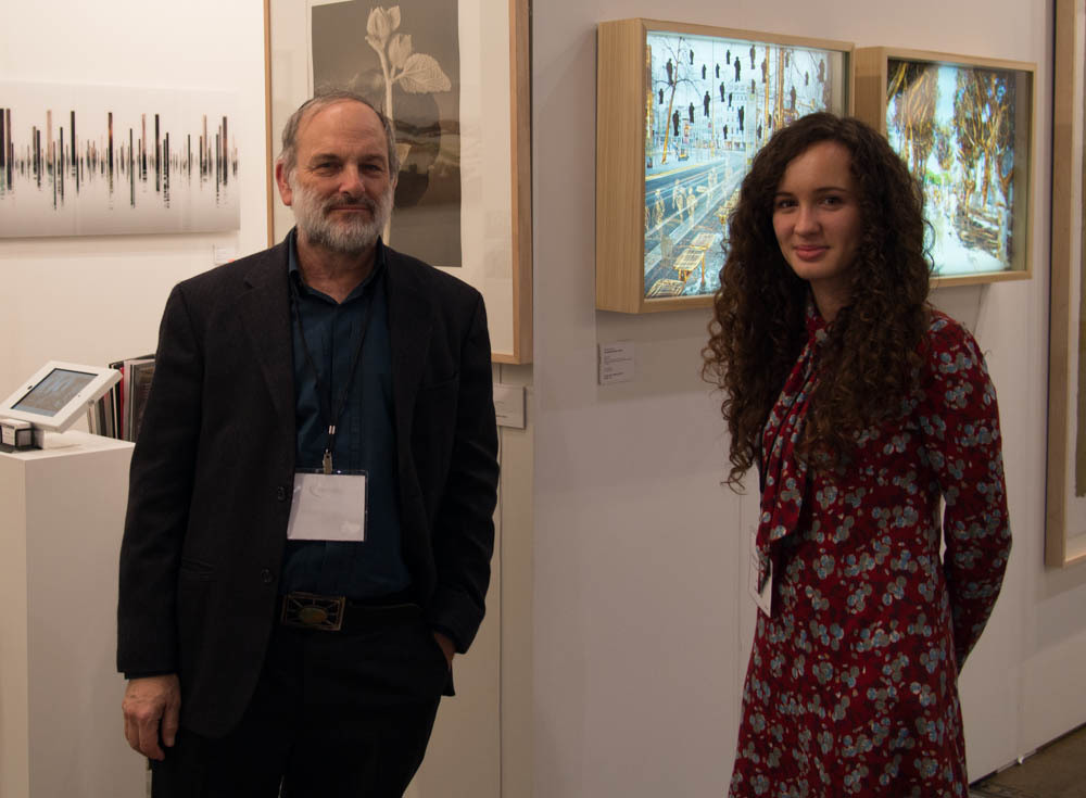 Neil Folberg & Joanna Wojewoda of Vision Gallery at Art Toronto 2014